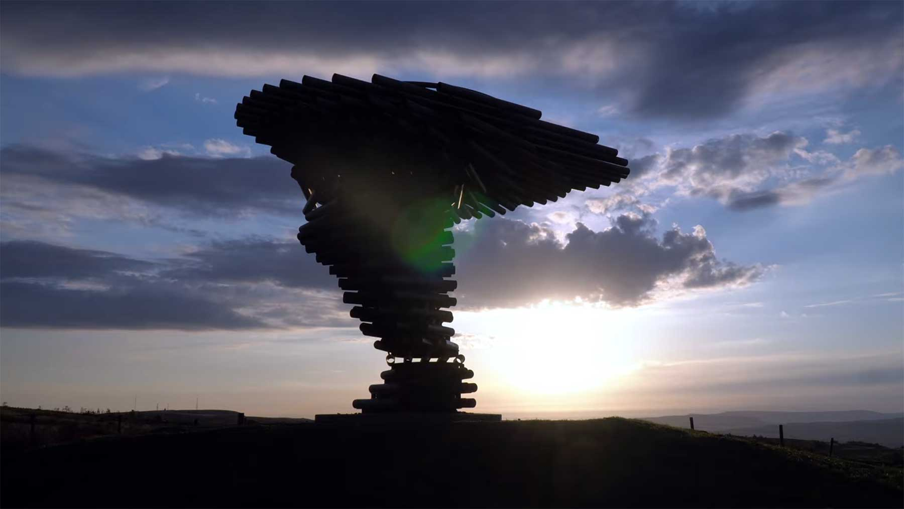 """The Singing Ringing Tree"" macht aus Wind Musik"