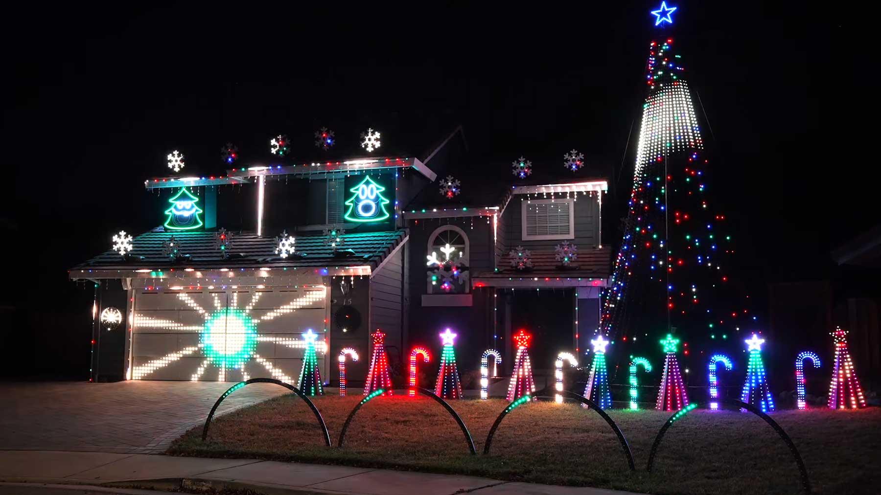 34-minütige Weihnachts-Lichter-Show