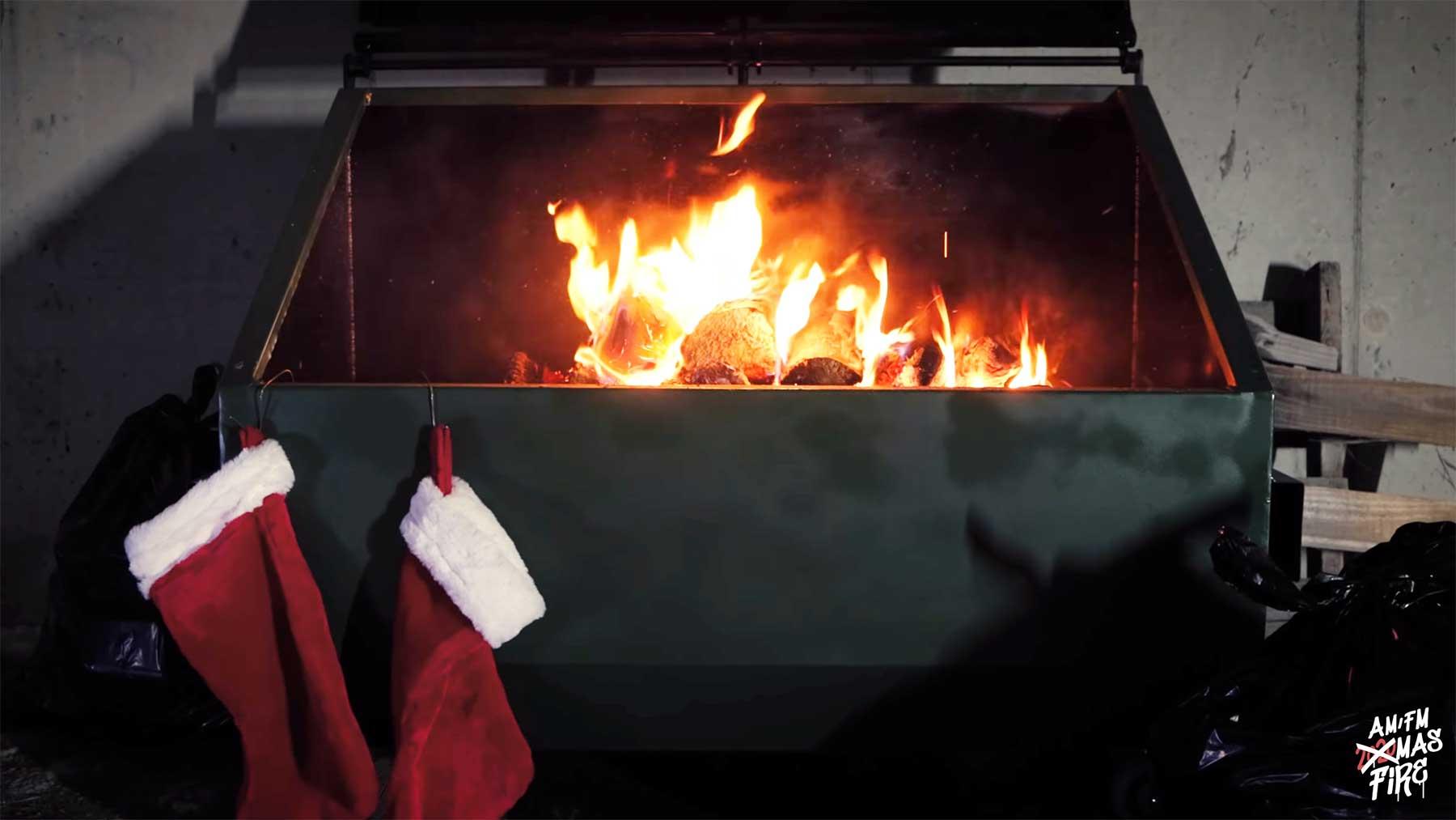 Eine Stunde Müllcontainer-Lagerfeuer 2020-muelltonnenfeuer