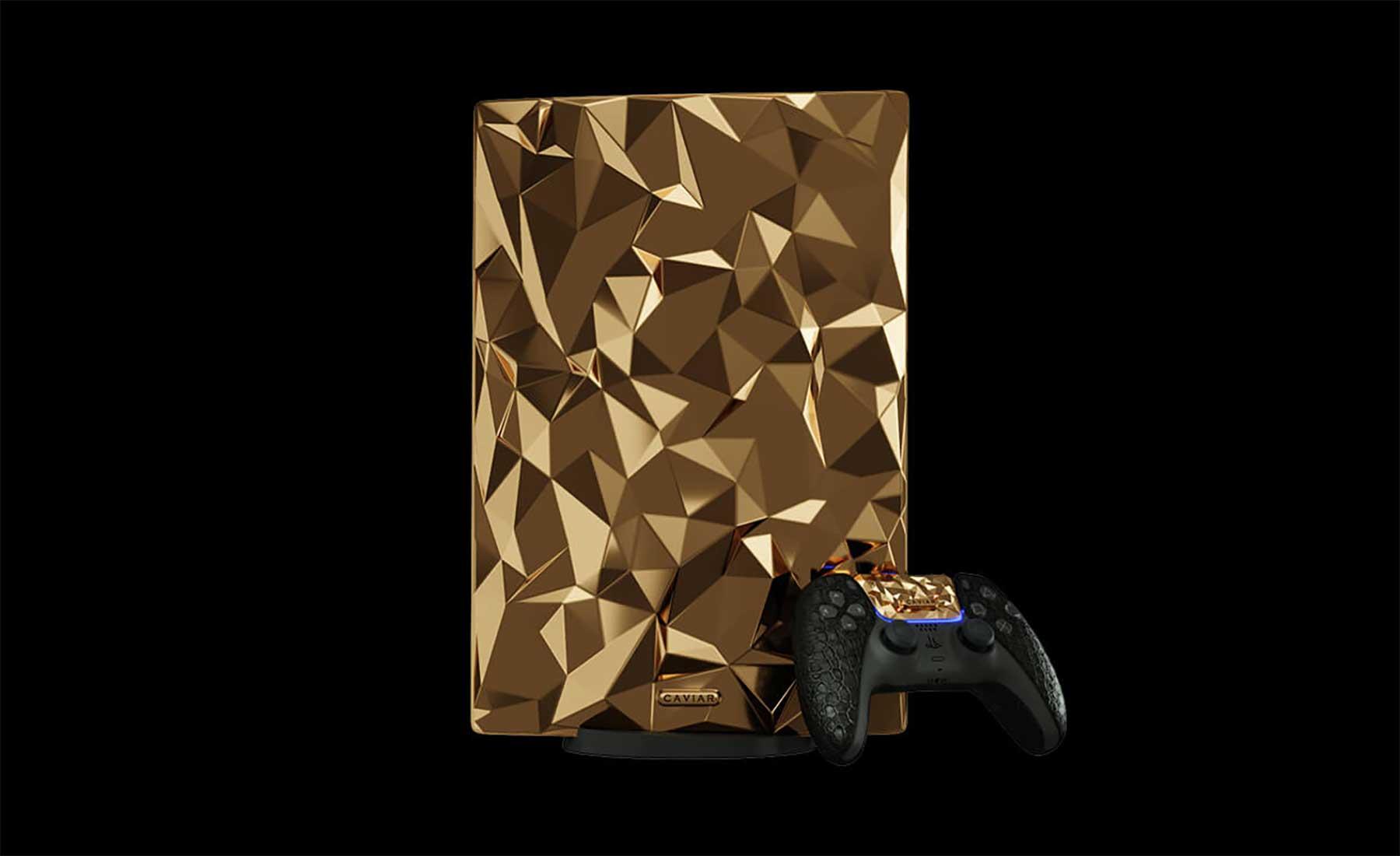 PlayStation 5: Luxus-Konsole mit 20kg Gold verziert Goldene-PlayStation-5-Konsole_01