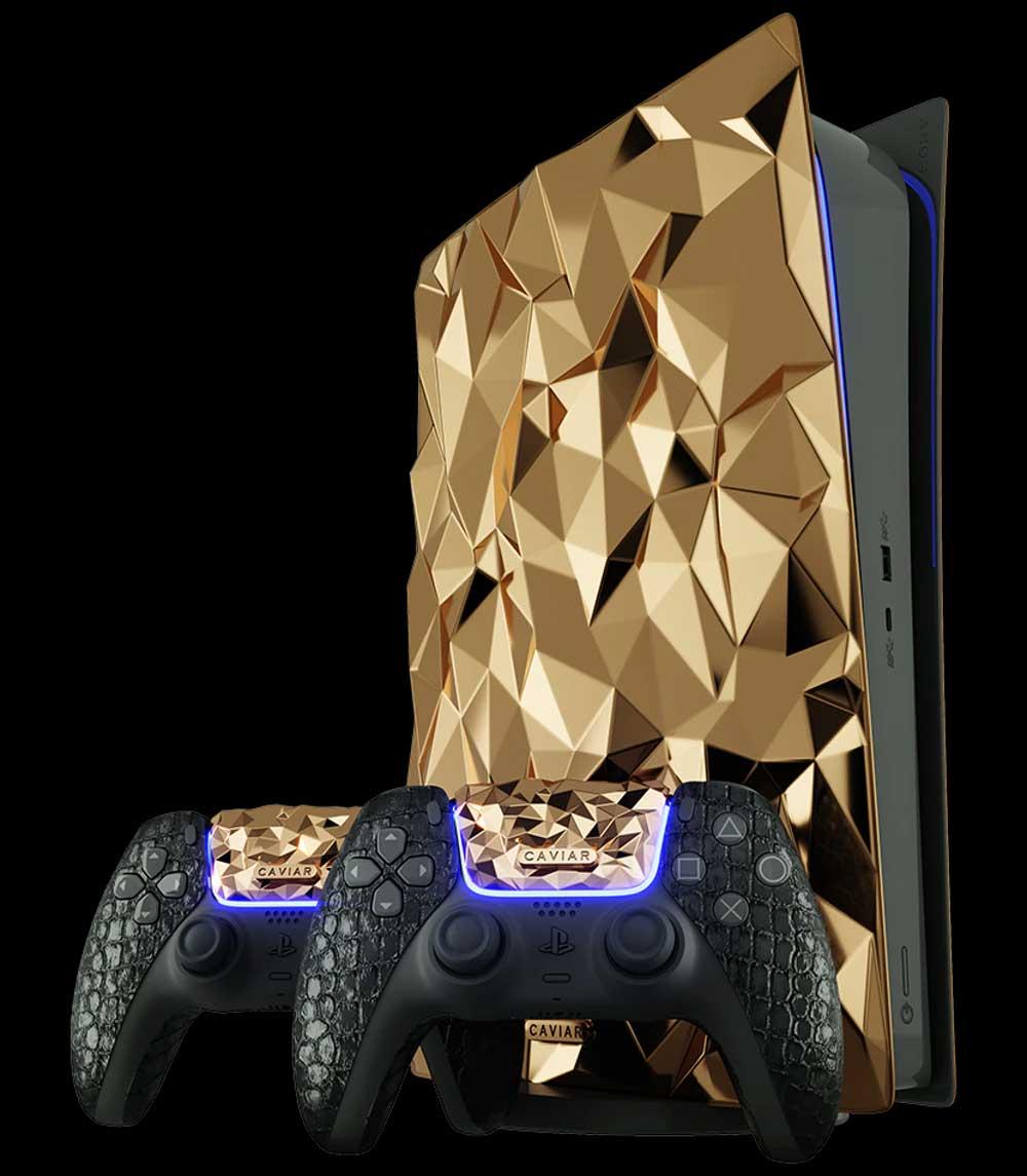 PlayStation 5: Luxus-Konsole mit 20kg Gold verziert Goldene-PlayStation-5-Konsole_03