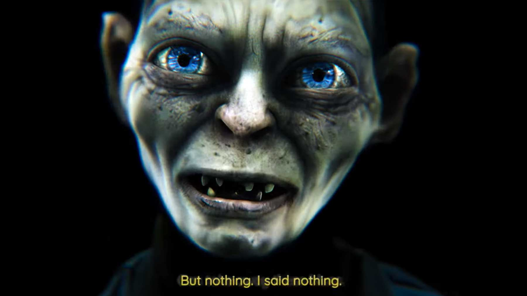 "Gollum singt ""Nothing Compares 2 U"""
