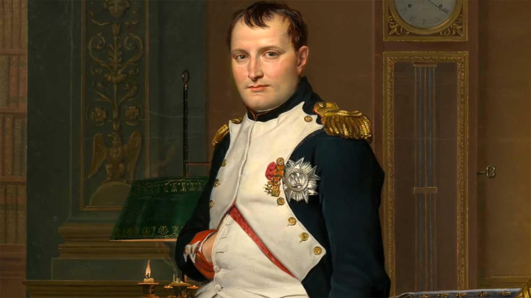 Deshalb hat Napoleon seine Hand verdeckt