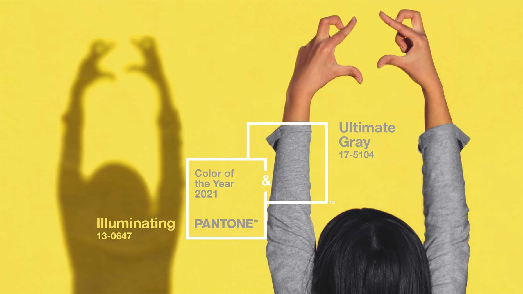"Die Pantone-Farben des Jahres 2021 sind ""Ultimate Gray"" & ""Illuminating"""