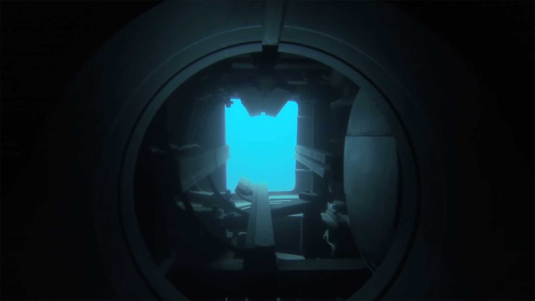 Das sieht ein Torpedo beim Abschuss