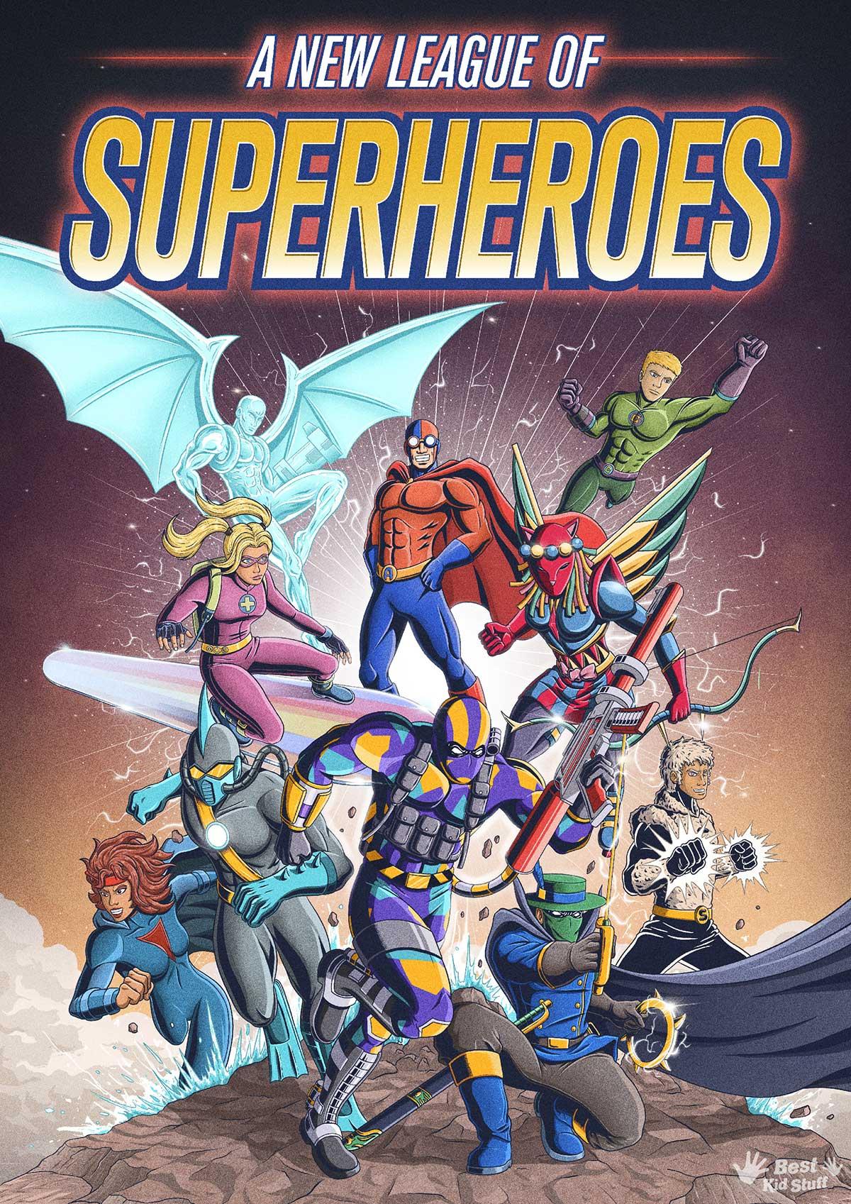 Künstler illustrieren Comic-Cover aus Kinderzeichungen von Superhelden Kinder-malen-Superhelden-profis-illustrieren-comic-cover_10