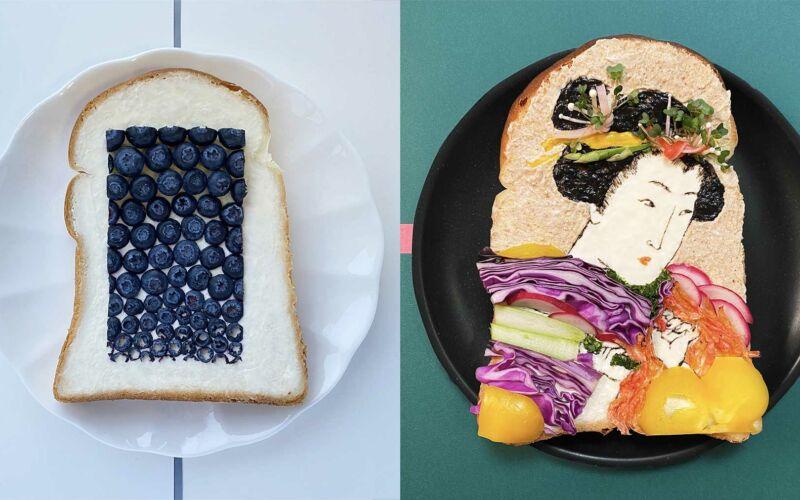 Brotscheiben-Kunstwerke von Manami Sasaki