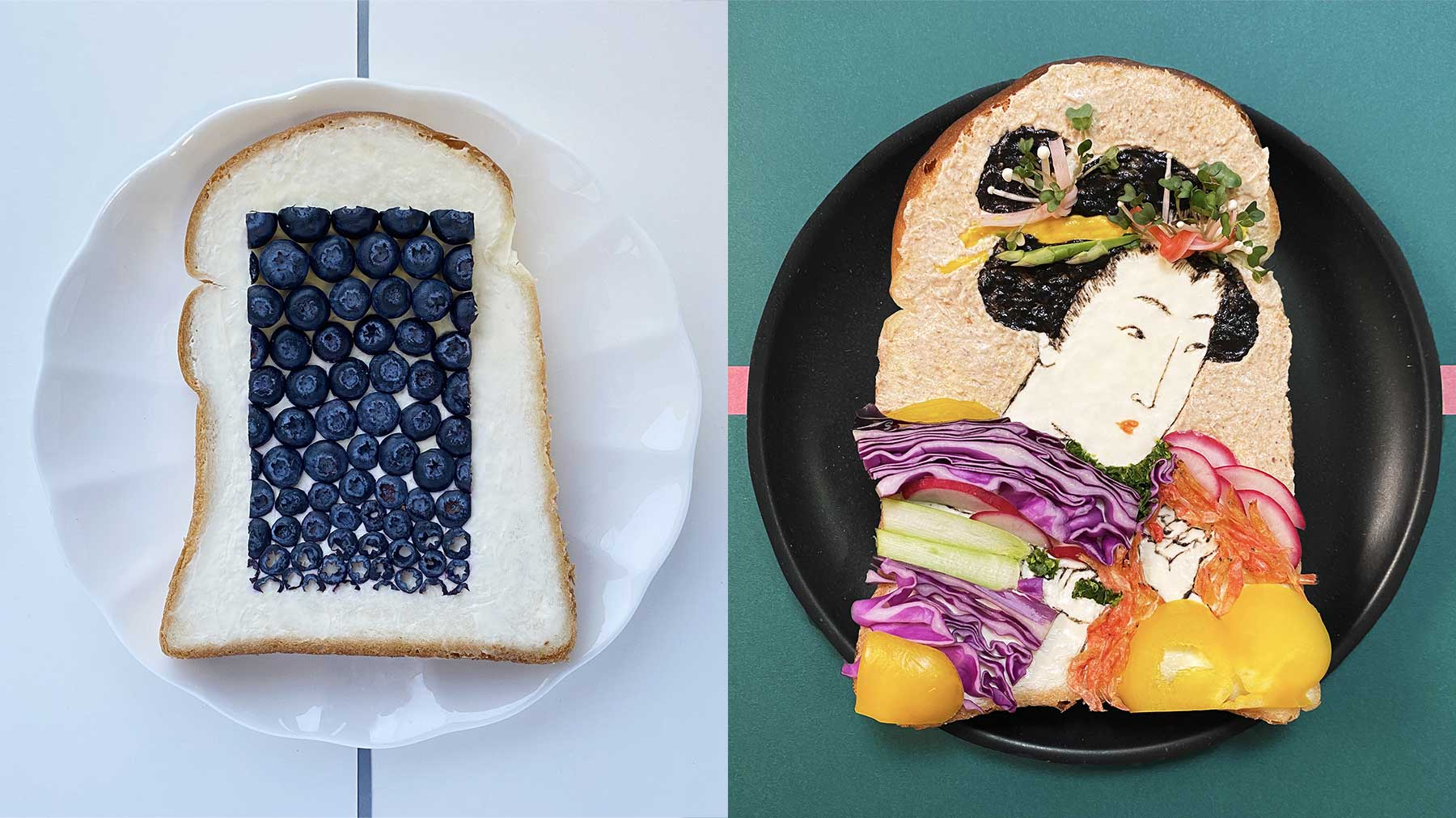 Brotscheiben-Kunstwerke von Manami Sasaki Manami-Sasaki_00