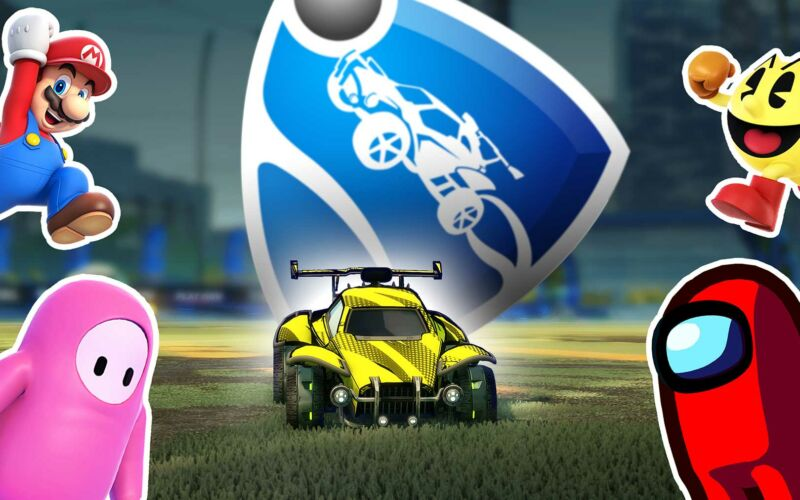 "Game-Mashups: ""Rocket League"" x ""Among Us"" x ""Fall Guys"" x ""Mario Kart"" …"