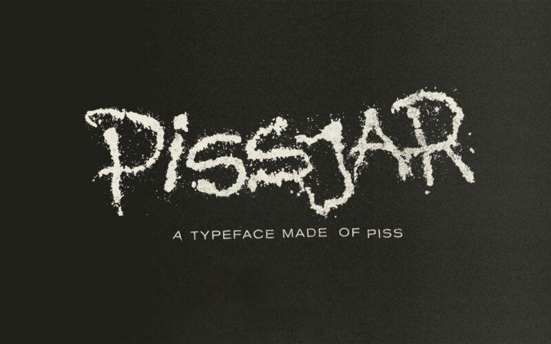 """Gepinkelte Schriftart: """"Pissjar Sans"""""""