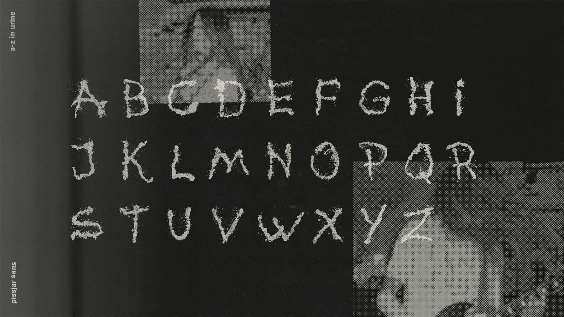 """Gepinkelte Schriftart: """"Pissjar Sans"""" Pissjar-sans-gepinkelter-font_02"""