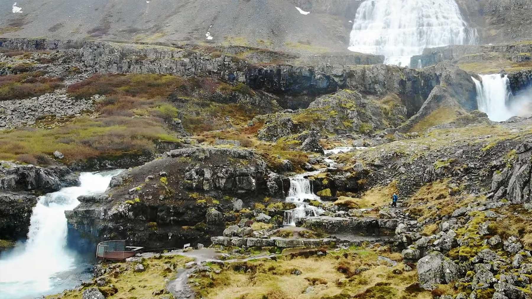 Drohnenaufnahmen von Island
