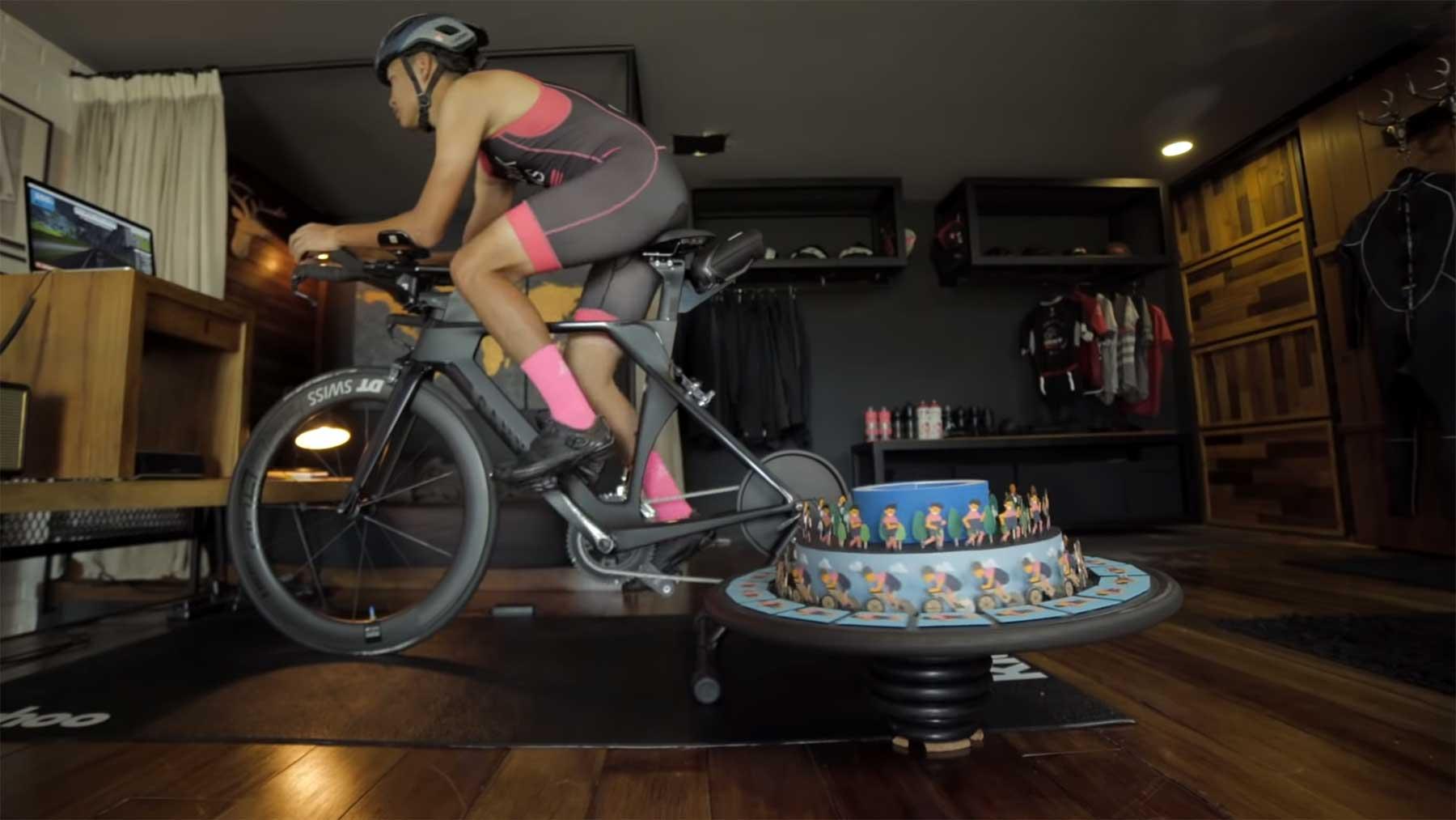 Zoetrope auf Rennrad-Rad