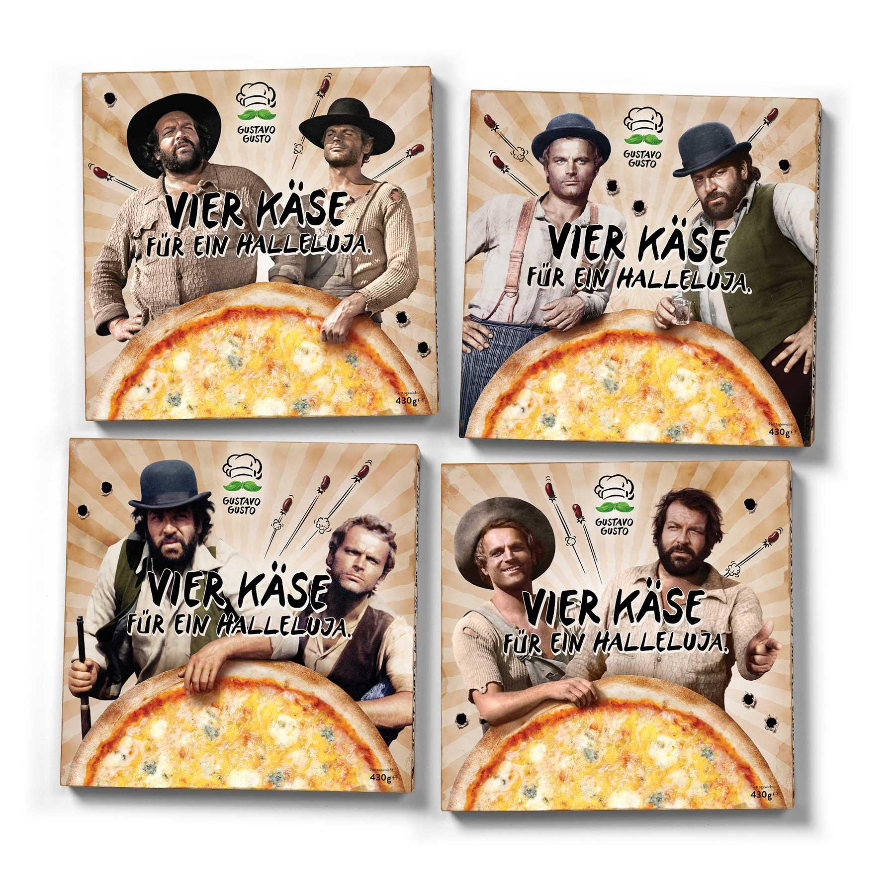 """""""Vier Käse für ein Halleluja."""" - Bud Spencer & Terence Hill Pizza von Gustavo Gusto im Test vier-kaese-fuer-ein-halleluja-packs"""