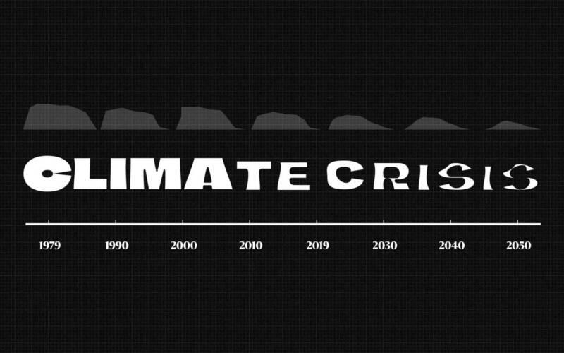 Die Klimakrisen-Schriftart schmilzt dahin