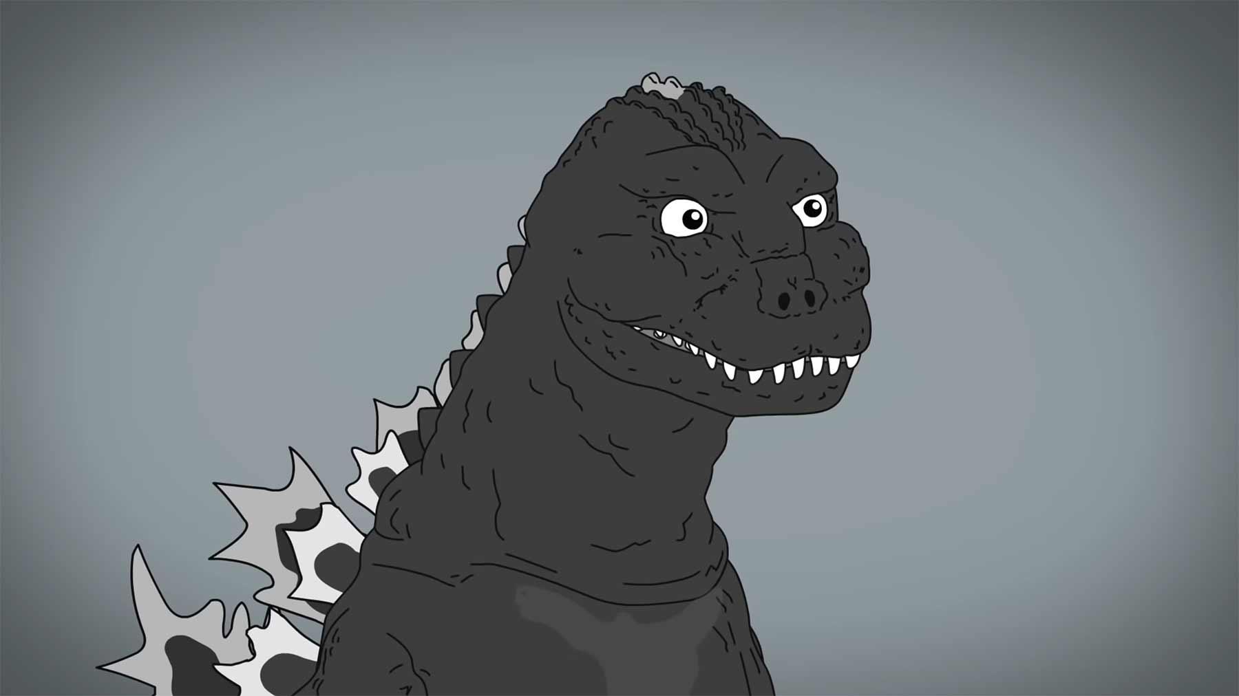 Die visuelle Evolution von Godzilla, Dracula und Batman the-evolution-of-godzilla