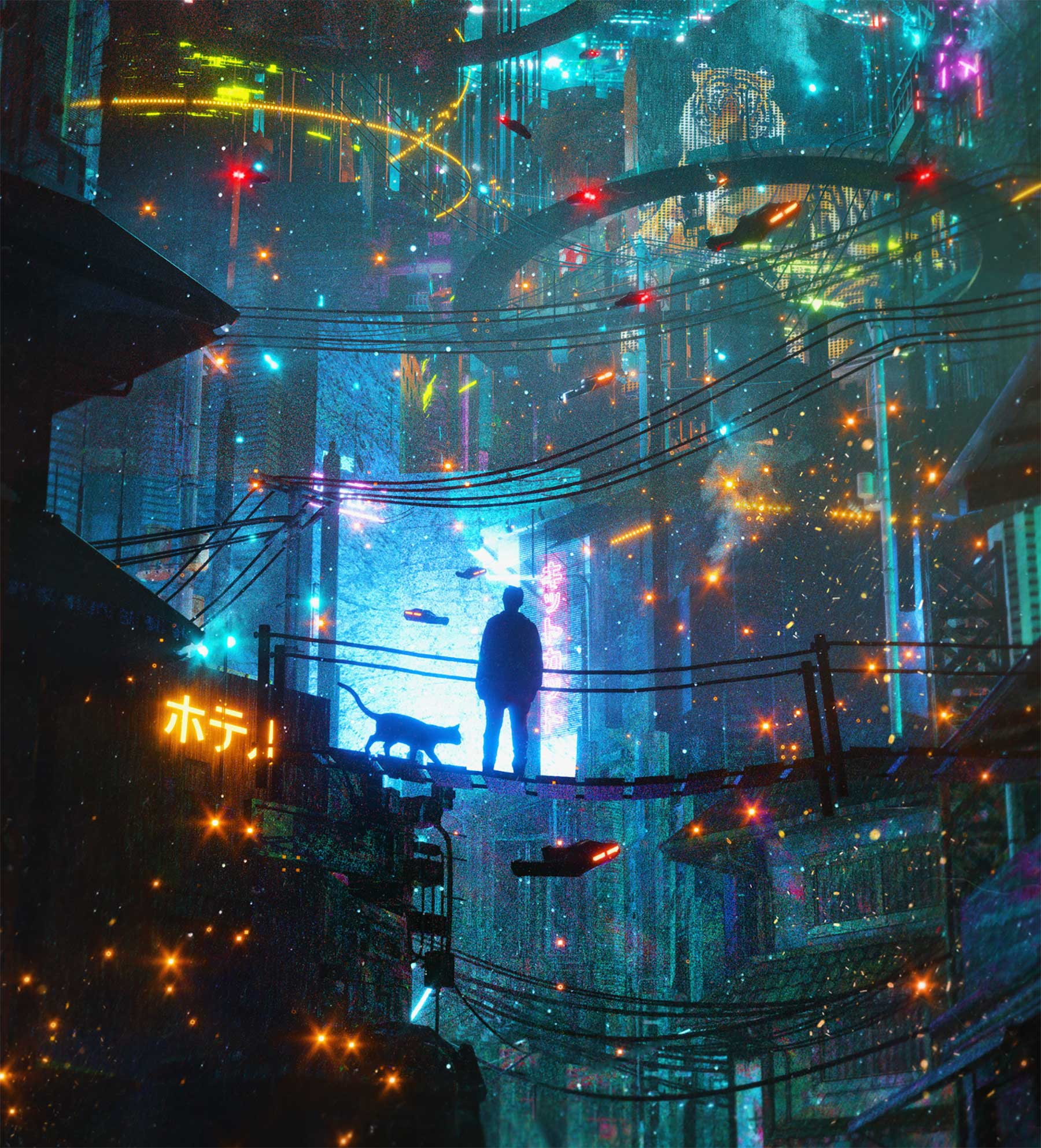 Digital Cyberpunk Art von Dangiuz