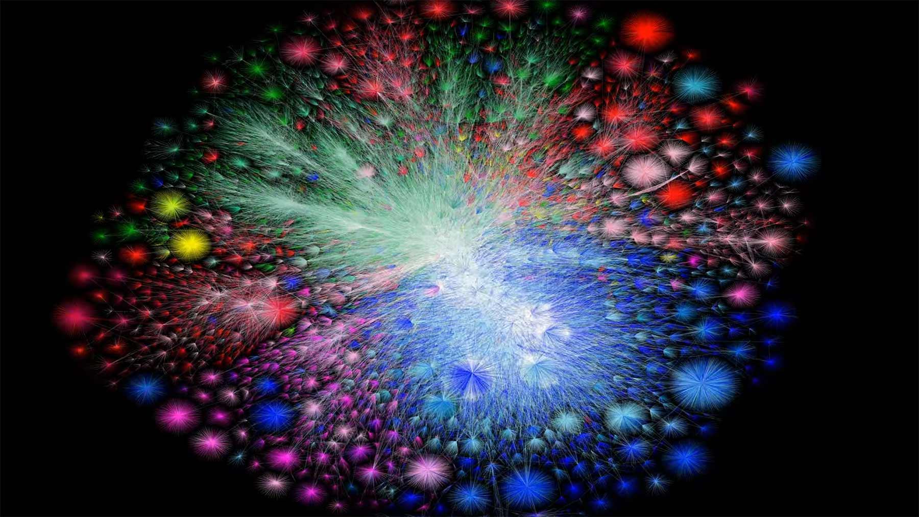 Visualisierung der Internet-Entwicklung 1997-2021