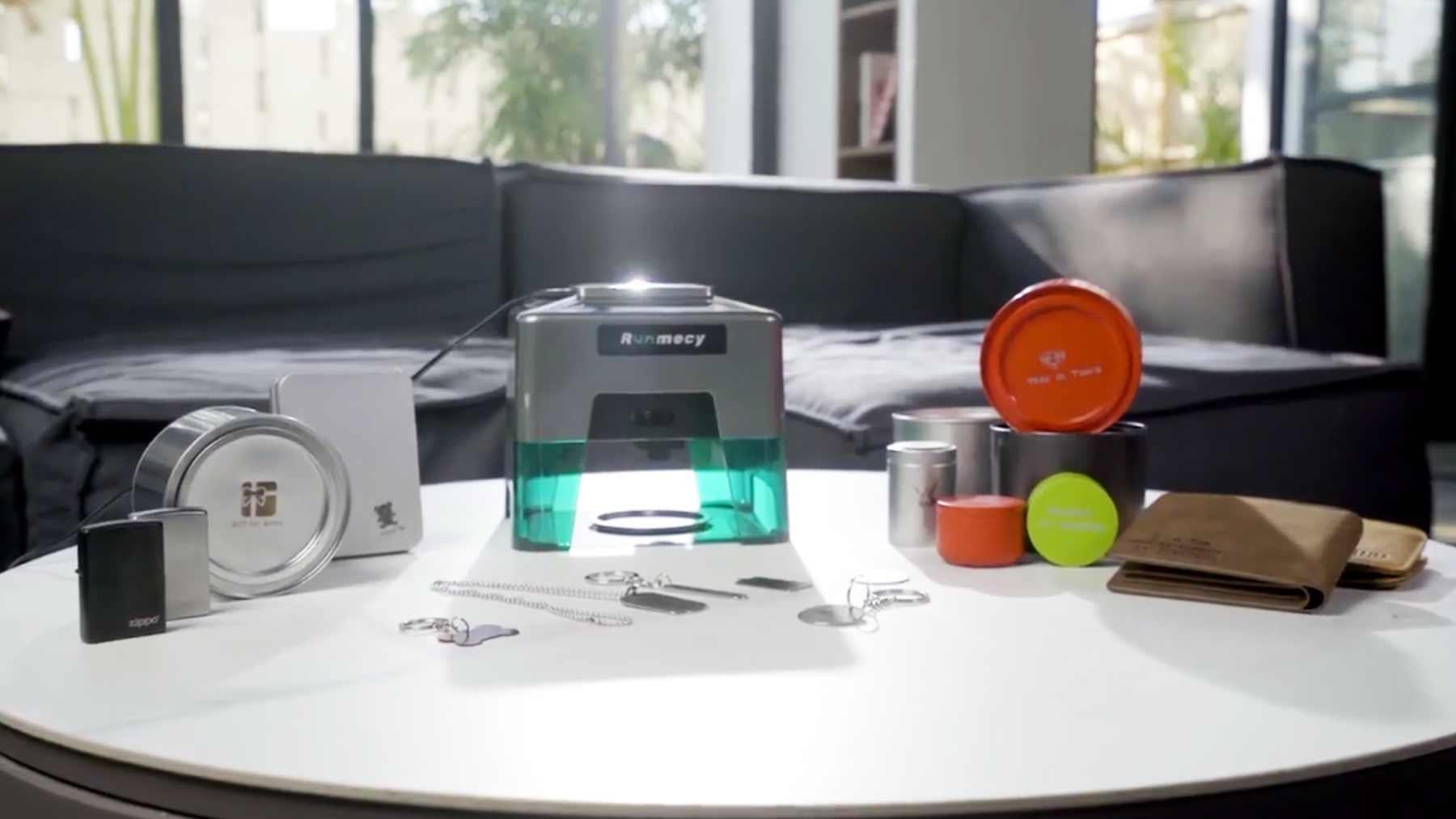 """Crowdfunding-Tipp: Kompaktes Laser-Gravurgerät """"Runmecy"""""""