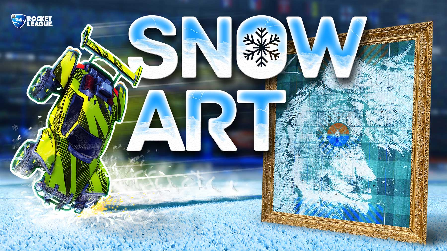 "Bilder in ""Rocket League"" malen: Stimmt für meine Snow Art!"