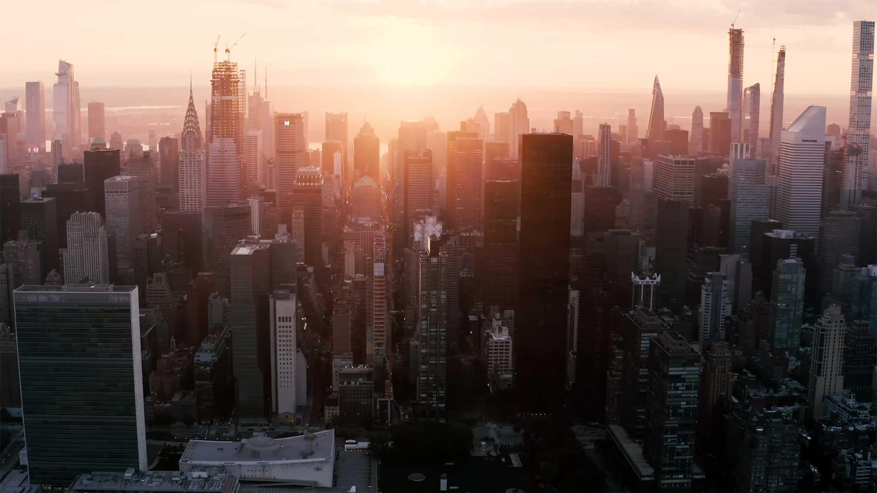 71 Minuten New York City aus der Luft new-york-city-aus-der-luft-betrachtet