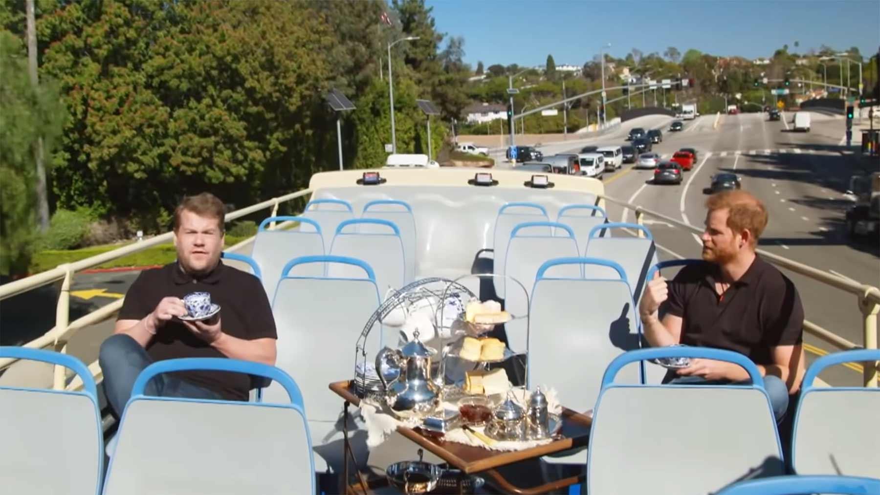 Prinz Harry und James Corden machen eine Tour durch Los Angeles