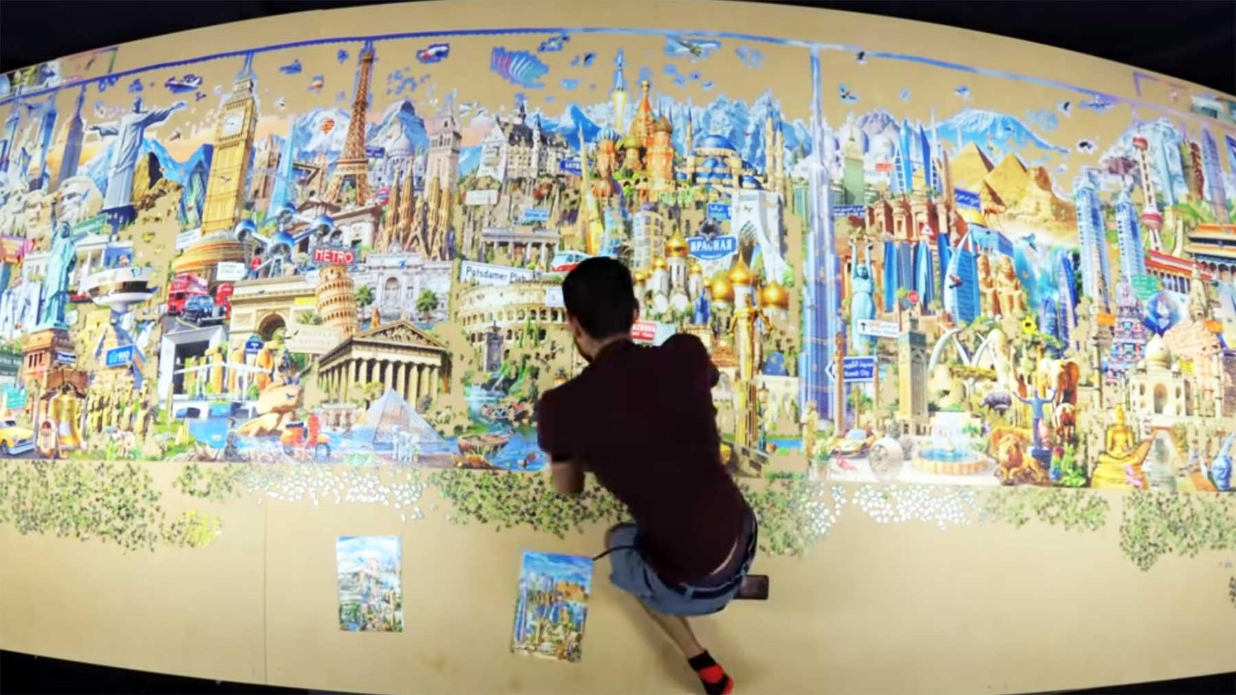 42.000-Teile-Puzzle in 2:33 Minuten zusammengebaut