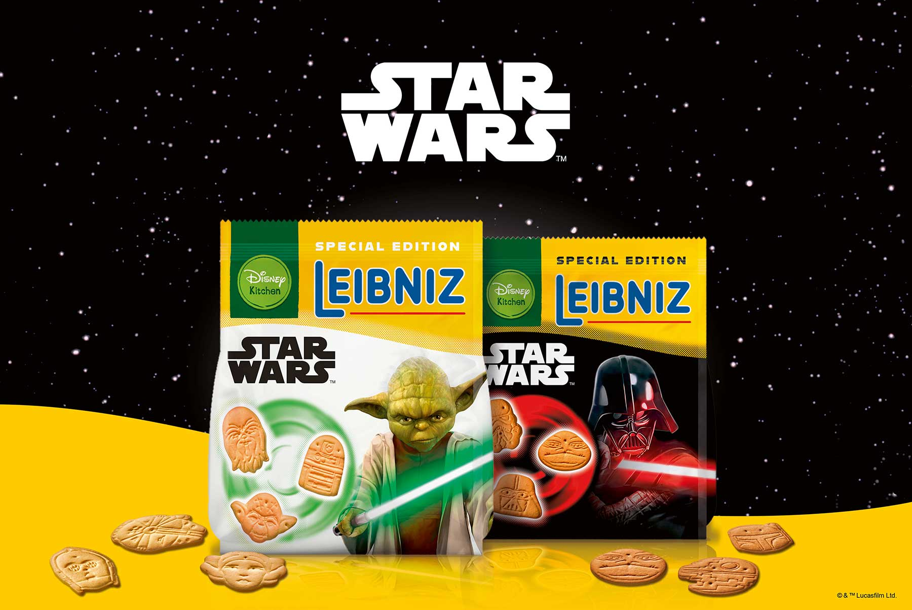 GEWINNT 3 Pakete LEIBNIZ STAR WARS™: Butterkekse in Form von Yoda, Darth Vader & Co.! Leibniz-Star-Wars-Butterkekse_01