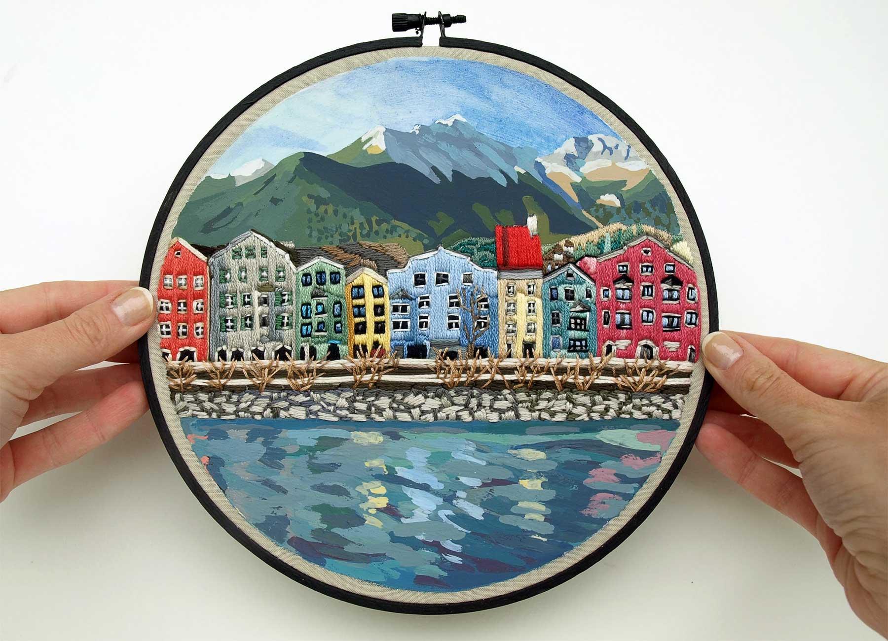 Landschafts-Stickereien von Libby Williams