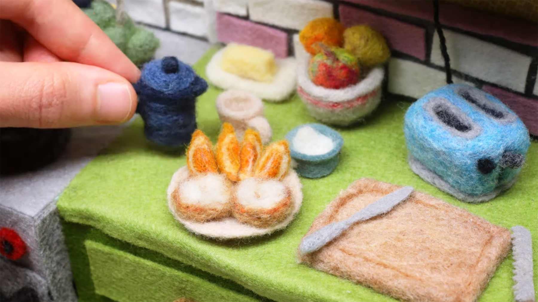 Mehr Stopmotion-Kochen mit Wolle