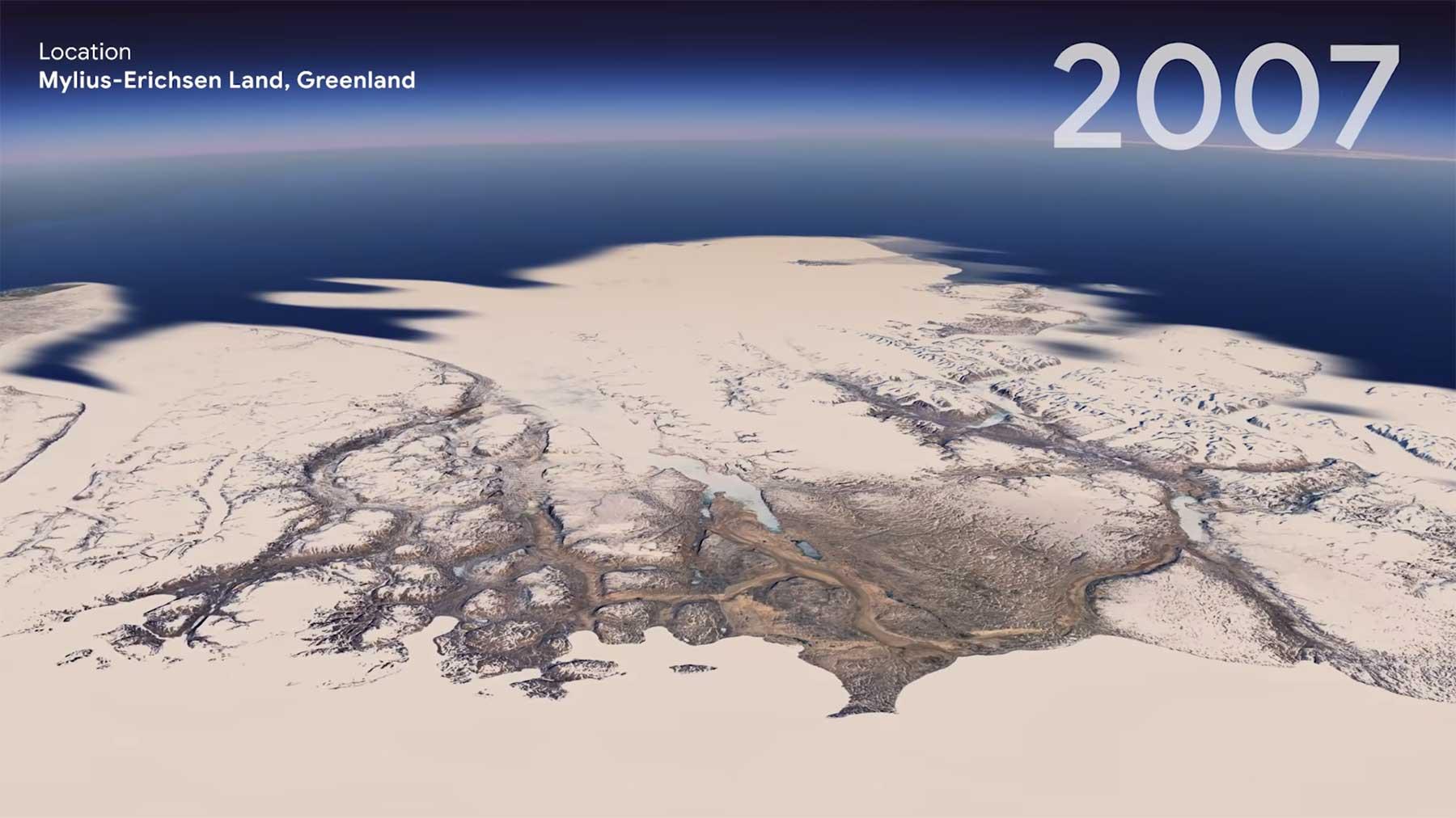 Google Earth hat jetzt ein Timelapse-Feature