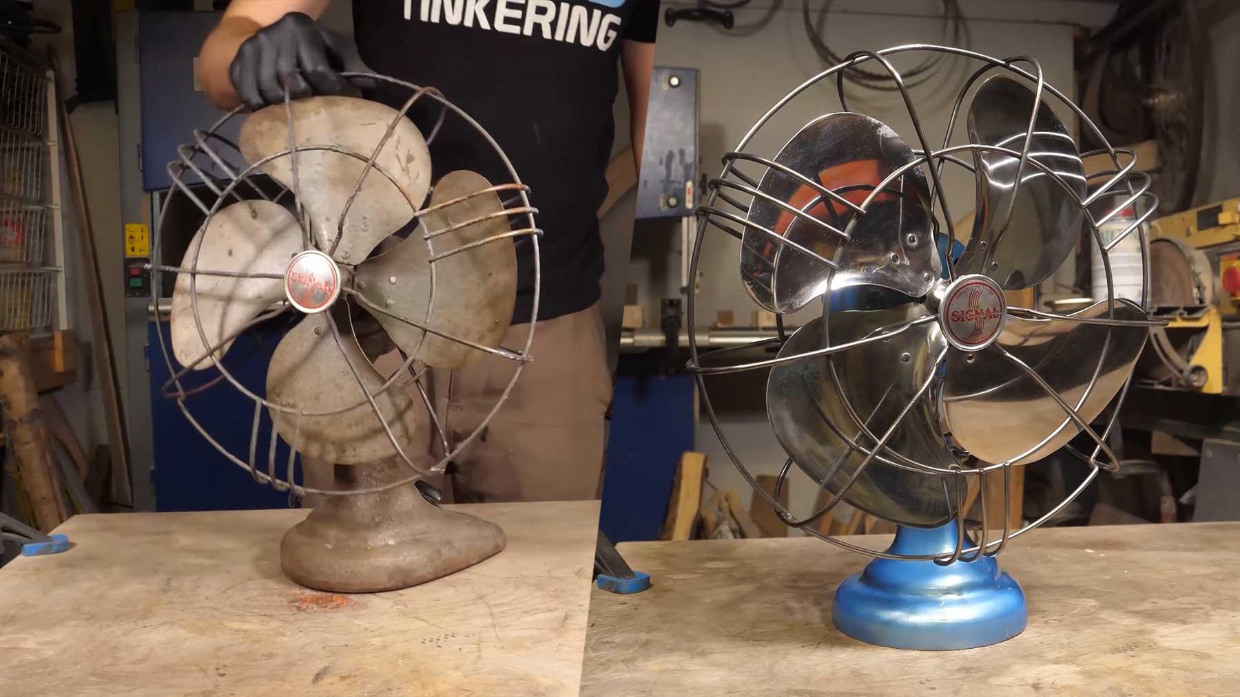 Alten, verrosteten Ventilator restaurieren