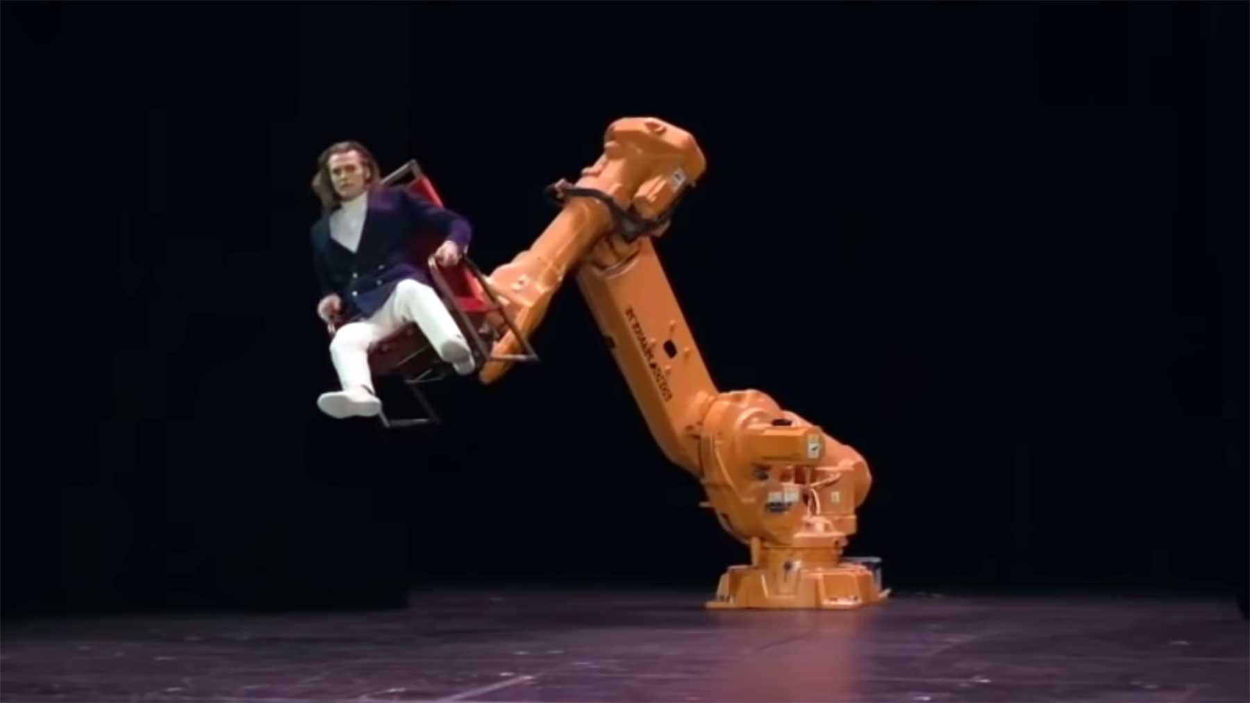 Mann vs. Roboter-Stuhl