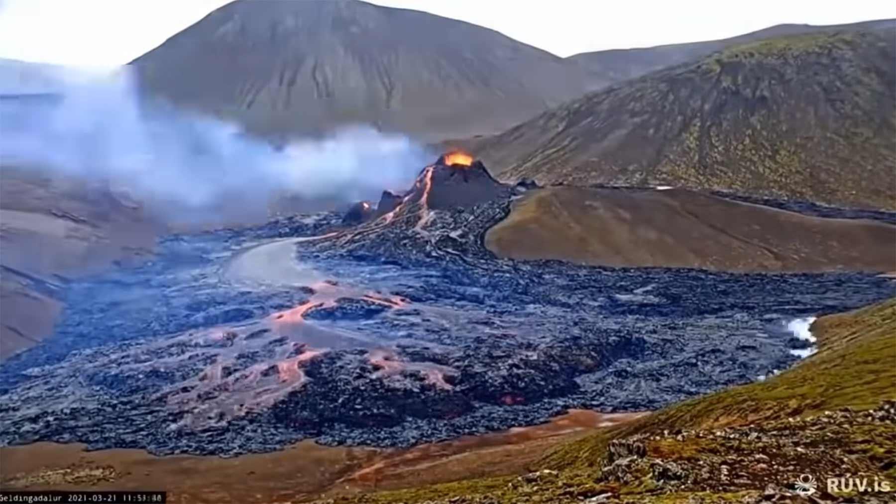 Vulkan-Timelapse: 18 Tage Fagradalsfjall in 5 Minuten timelapse-vulkanausbruch