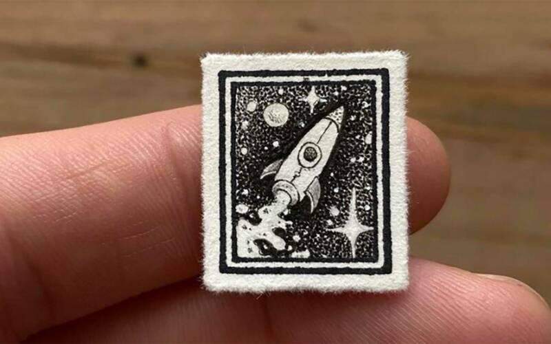 Punktierte Miniaturkunst von Evan Lorenzen
