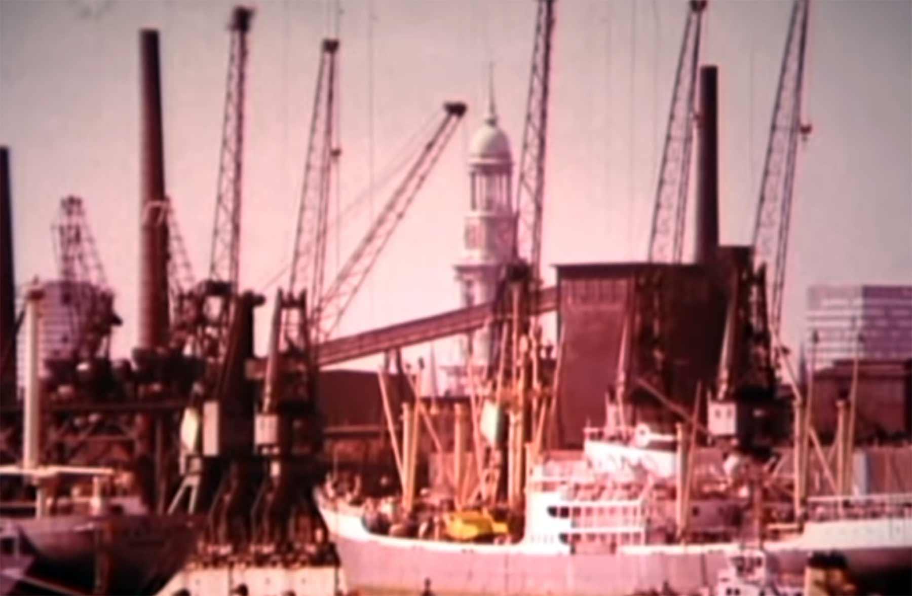 Hamburger Hafen im 70er-Jahre-Video