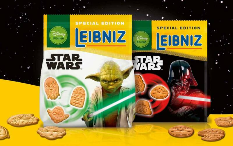 GEWINNT 3 Pakete LEIBNIZ STAR WARS™: Butterkekse in Form von Yoda, Darth Vader & Co.!