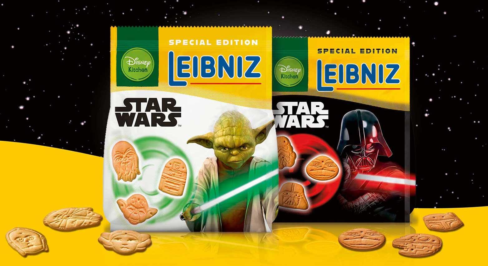 GEWINNT 3 Pakete LEIBNIZ STAR WARS™: Butterkekse in Form von Yoda, Darth Vader & Co.!