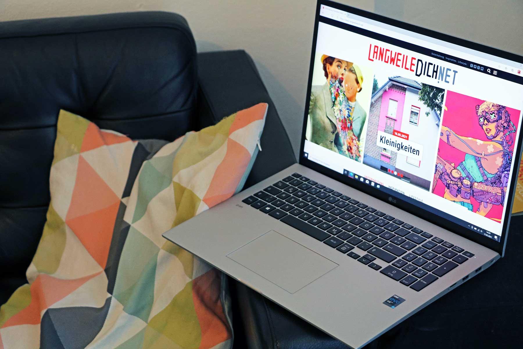 Laptop-Testbericht: Neues LG gram 17-Zoll-Notebook (2021er Version)