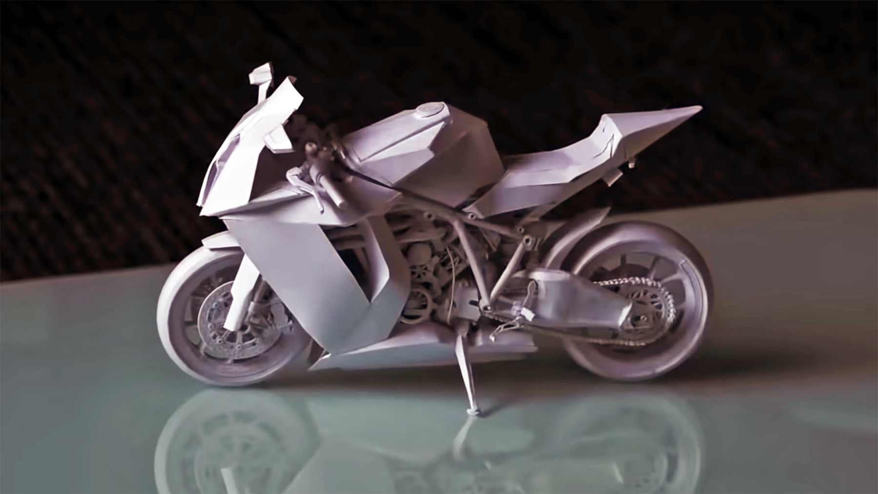 Ein Motorrad aus Papier basteln