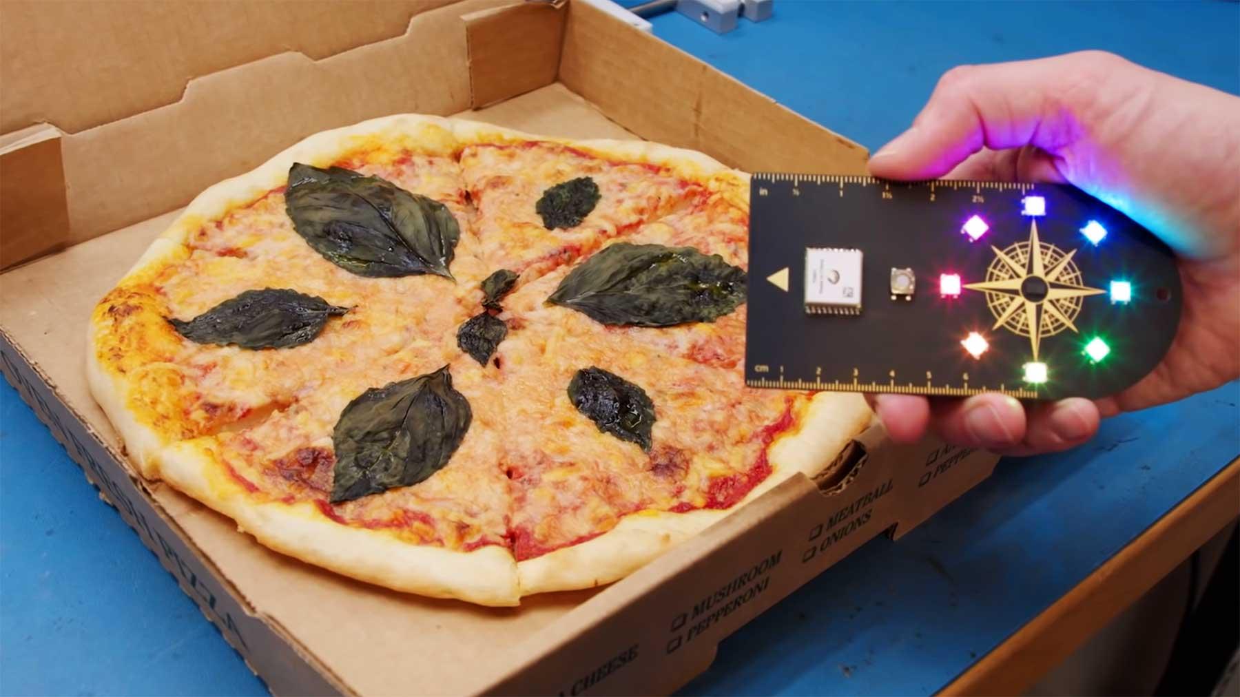 Dieser Kompass führt dich zur nächstgelegenen Pizza