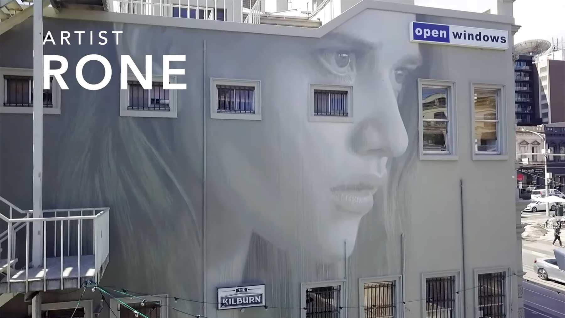 Street Artist Rone zeigt, wie ein gigantisches Mural entsteht