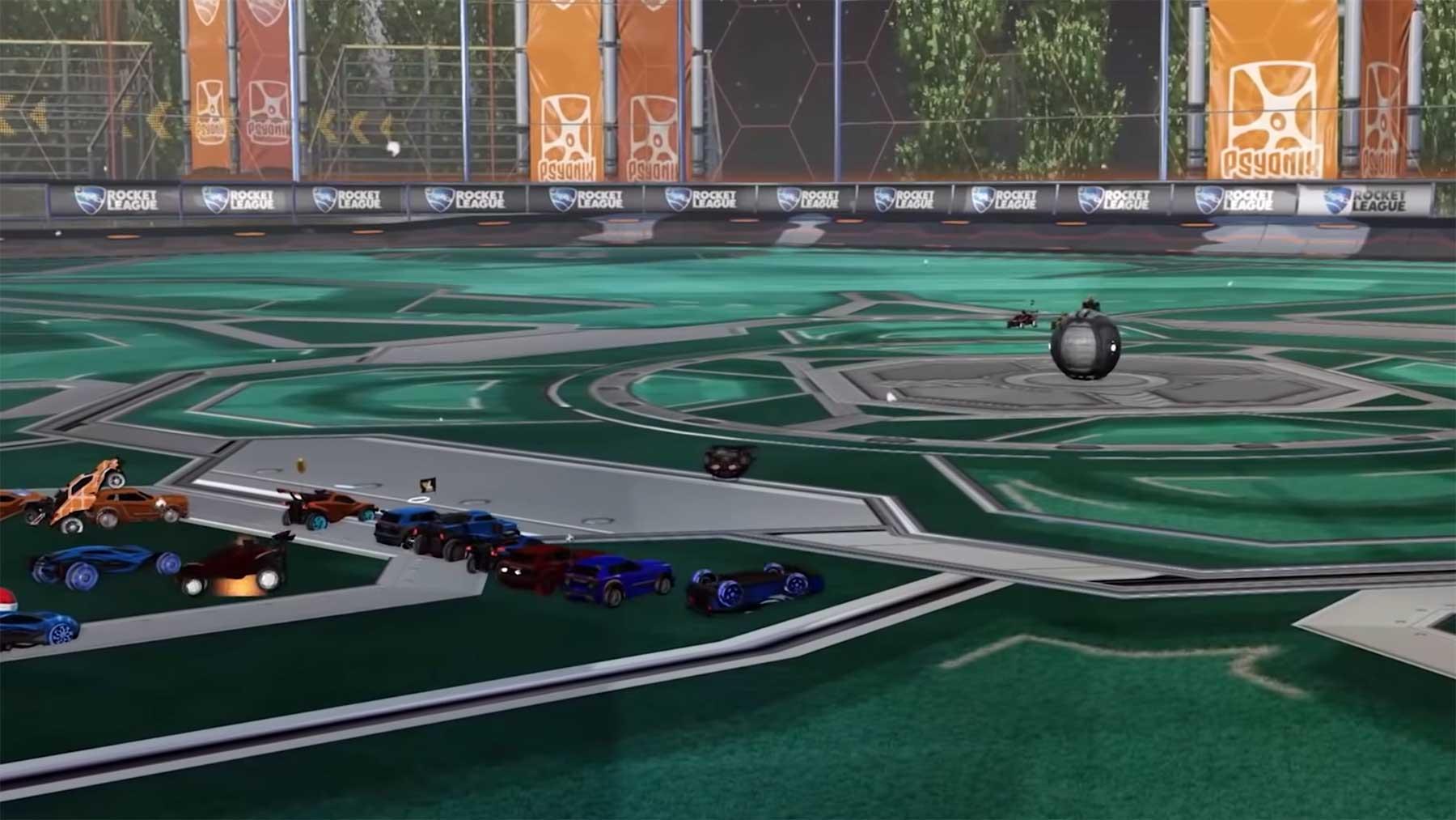 Rocket League mit 11 gegen 11 auf großem Feld