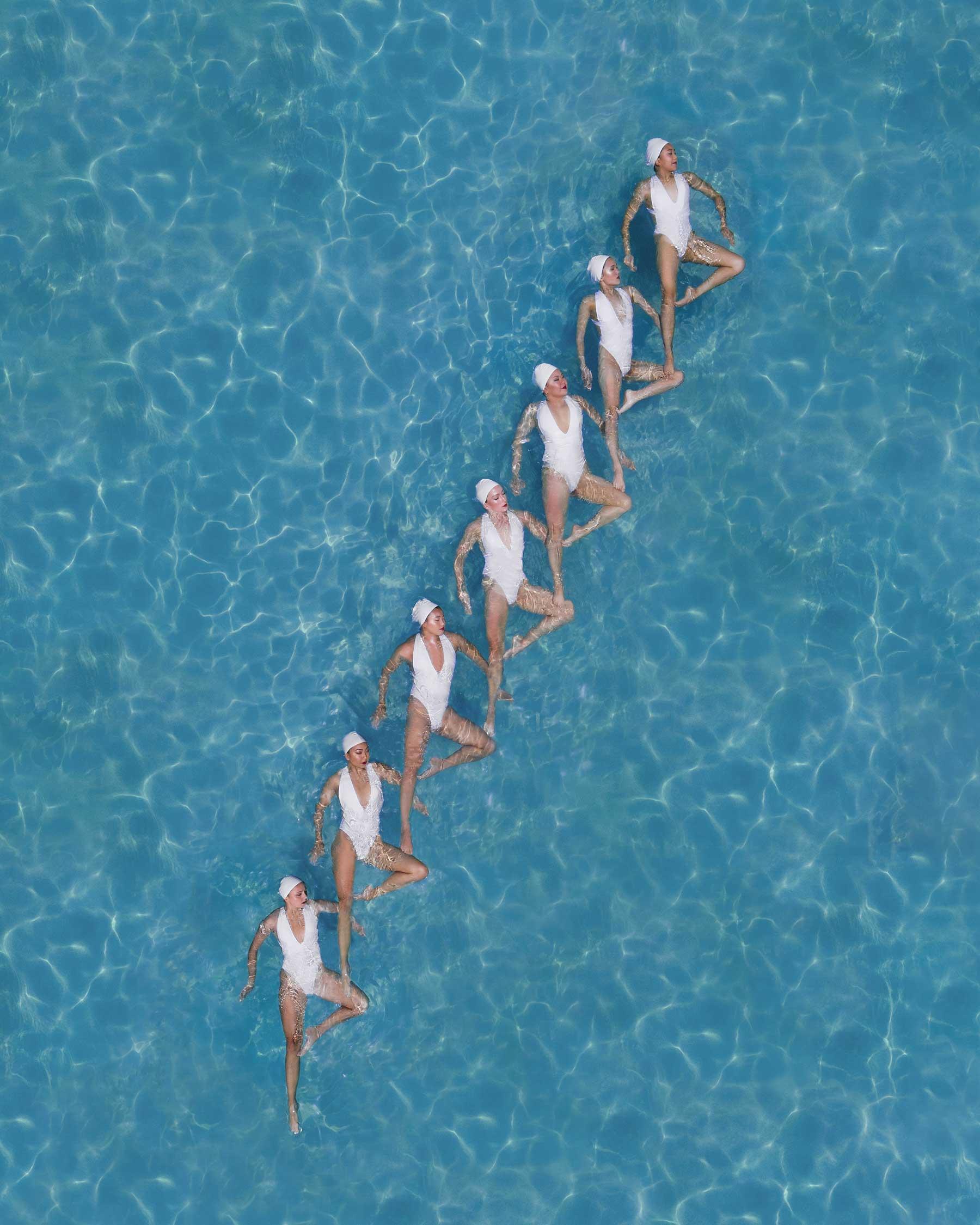 Synchronschwimmen-Luftaufnahmen von Brad Walls Water-Geomaids-Brad-Walls_09
