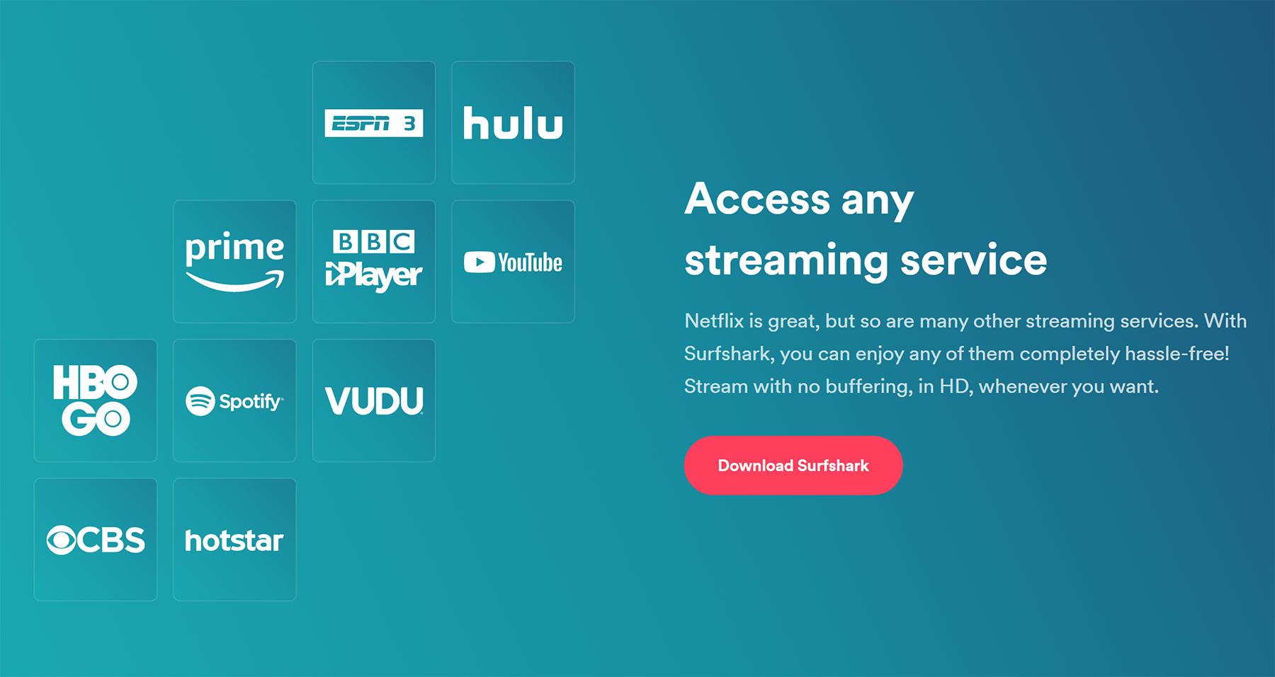 Netflix, Prime Video & Co. aus dem Ausland streamen mit Surfshark VPN streaming_Surfshark-vpn_02