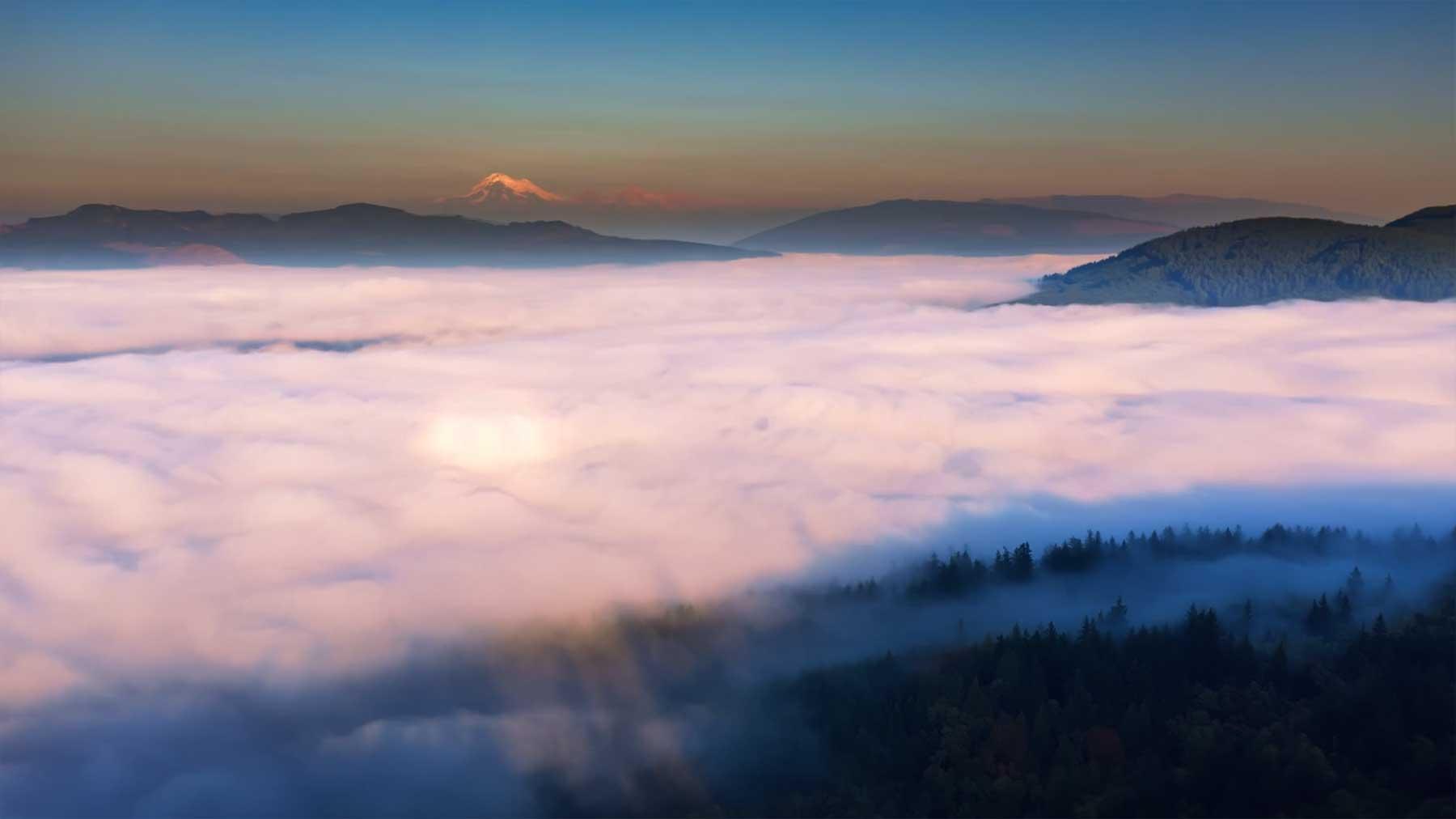 Wunderschöne Wolkenmeere