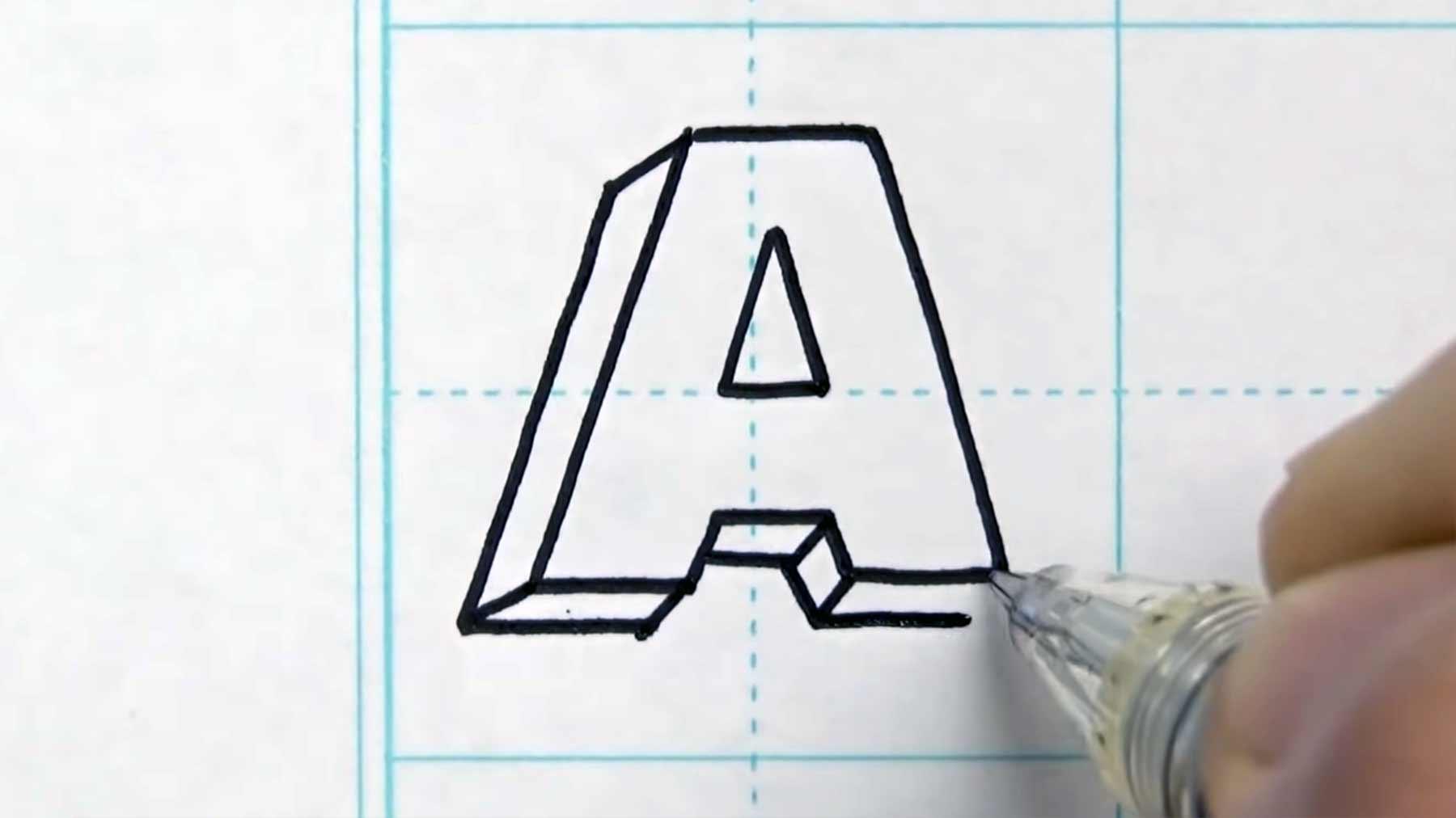 A bis Z in 3D gezeichnet