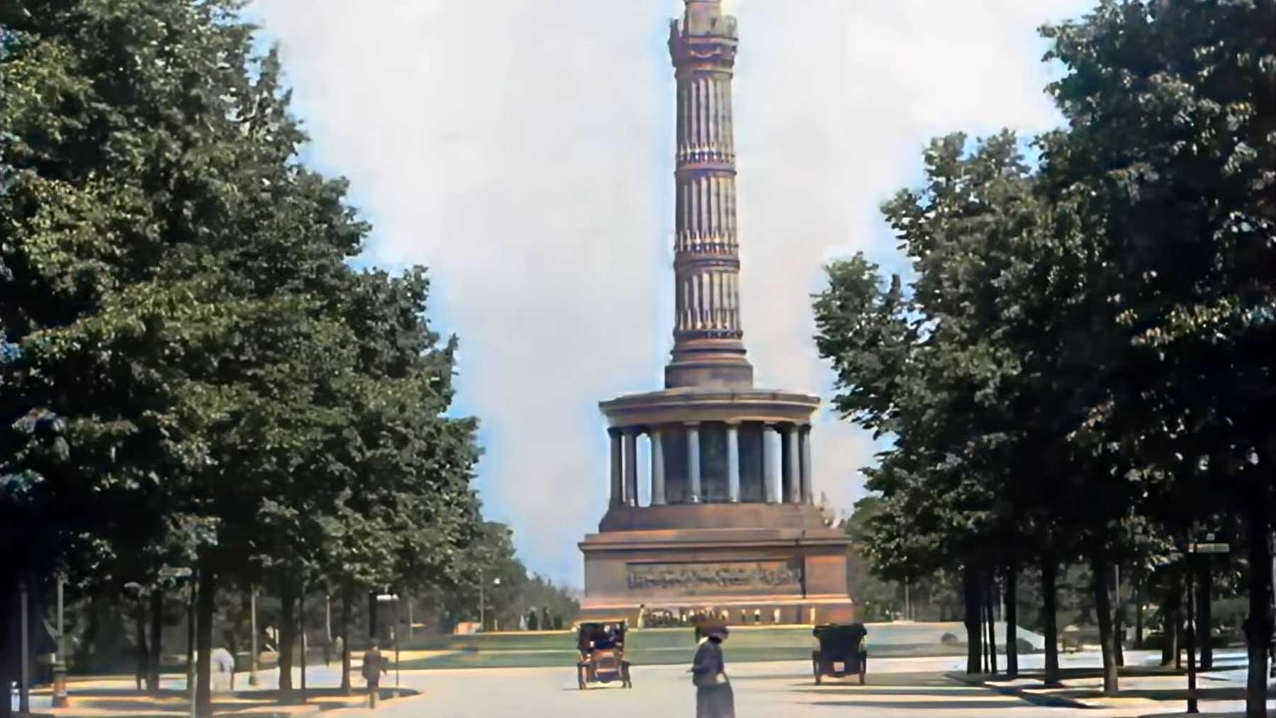 Videoaufnahmen von Berlin im Jahr 1910 (in Farbe)