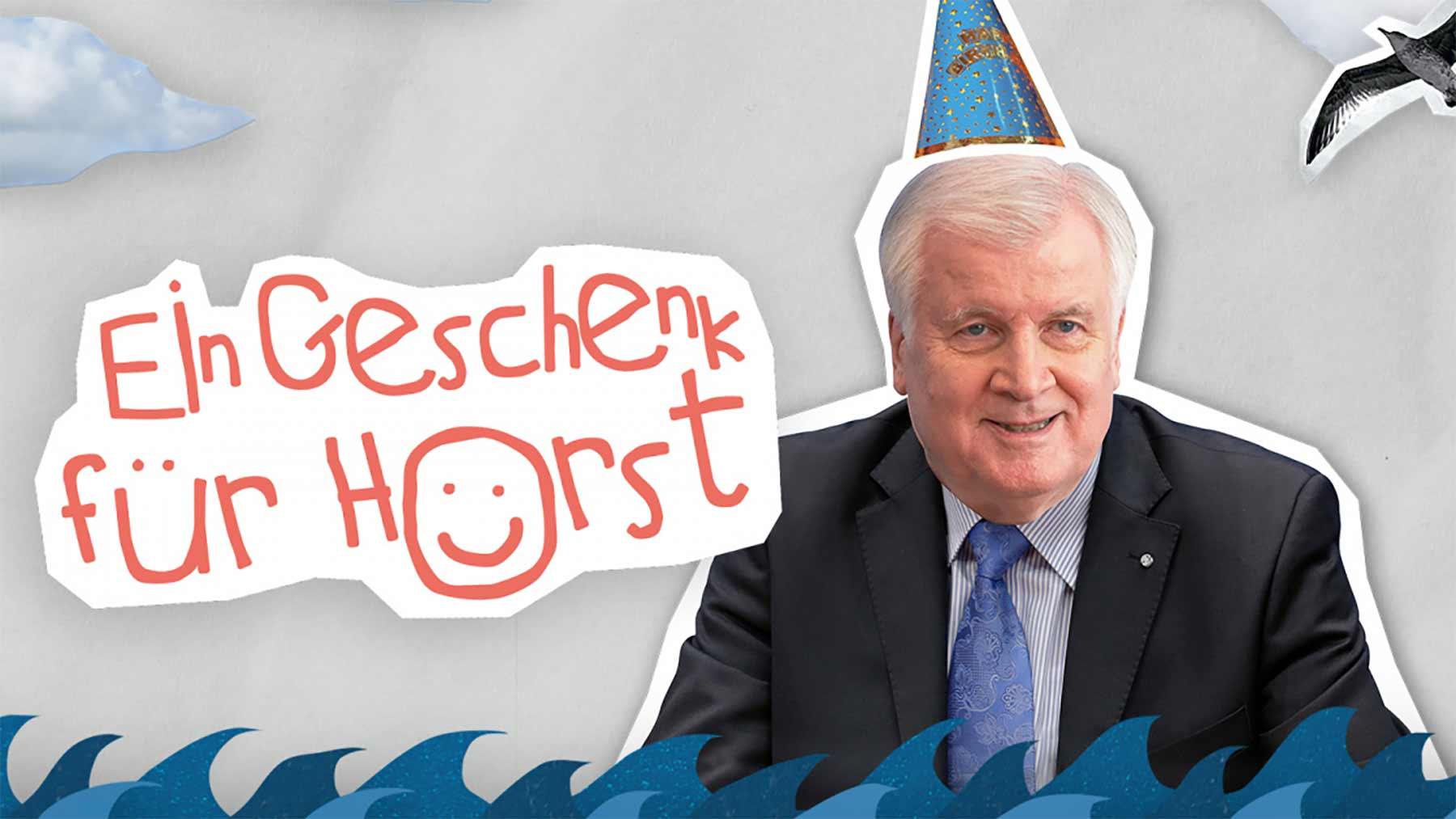 Spende für die Seenotrettung als Geburtstagsgeschenk für Horst Seehofer
