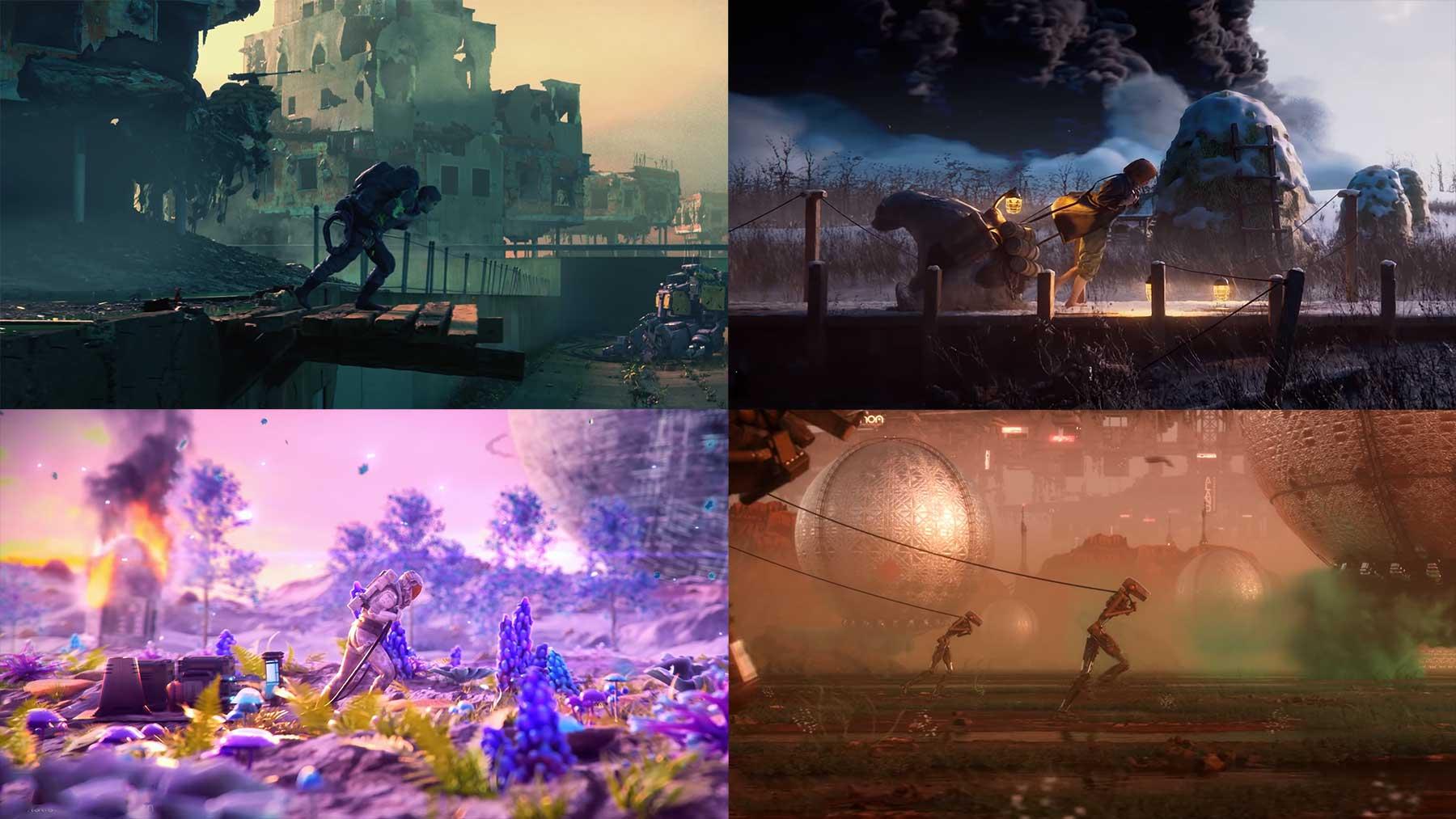 "Kollanimation: 100 CGI-3D-Render für ""Alternate Realities"""